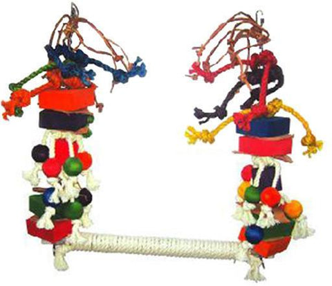 A&E Cage HB46258 Medium Rope Swing with Blocks & Leather - Peazz.com
