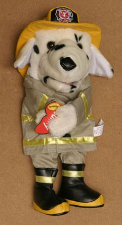 "14"" Dalmatian Firedog Glove Puppet Light Coat - Peazz.com"