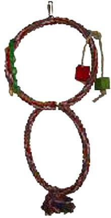 A&E Cage HB558 Rainbow Double Rope Swing with Wood Blocks - Peazz.com