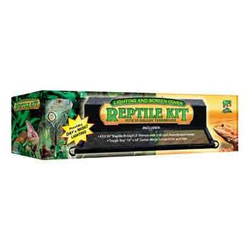10 Gallon Lighting & Screen Cover Reptile Kit - Peazz.com