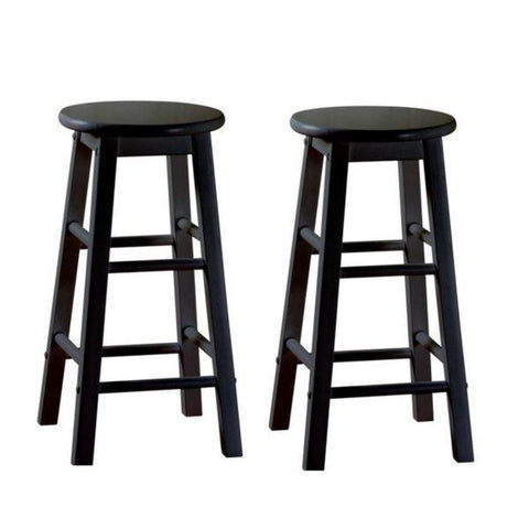 American Heritage Classic Counter Stool 24H - Set of 2 124803BLK - BarstoolDirect.com - 1