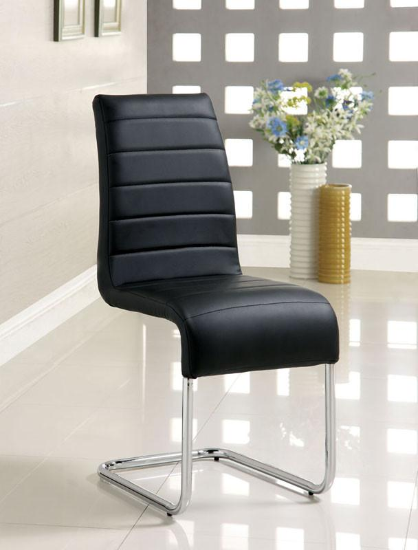 Dining Chair Black Leatherette Modern 3165 Product Photo