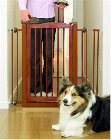 One Touch Pet Gate - Brown - Peazz.com