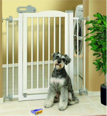 One Touch Pet Gate - White - Peazz.com