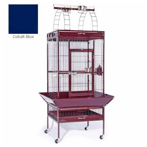 Large Select Wrought Iron Play Top Cage - Cobalt Blue - Peazz.com