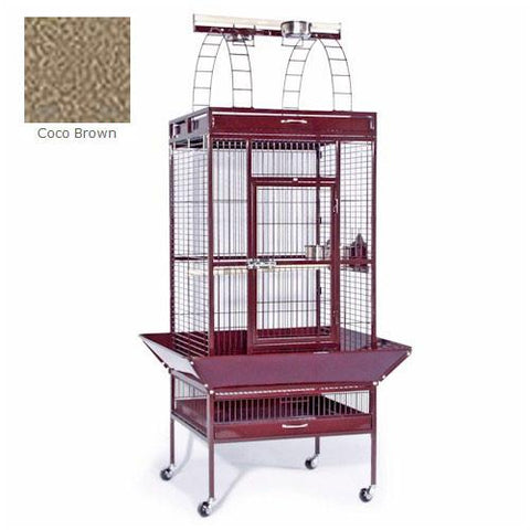 Large Select Wrought Iron Play Top Cage - Coco Brown - Peazz.com