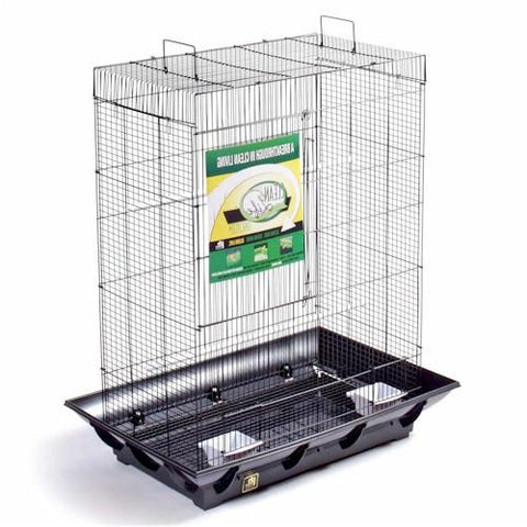 Clean Life Tall Flight Cage - Black (Tall Back) - Peazz.com