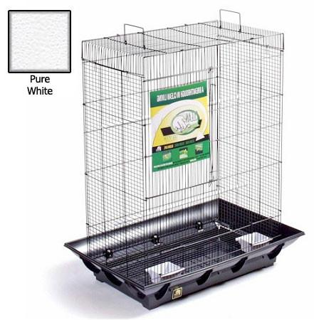 Clean Life Tall Flight Cage - White - Peazz.com