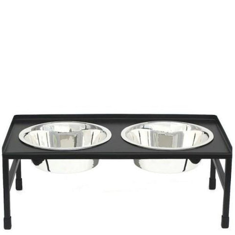 Tray Top Elevated Dog Bowls - Large - Peazz.com