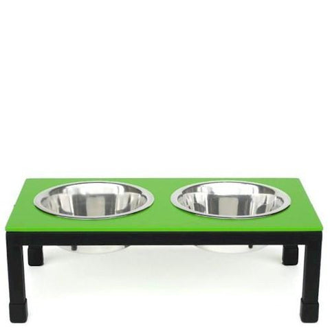 Rendezvous Raised Dog Bowls - Small/Green - Peazz.com