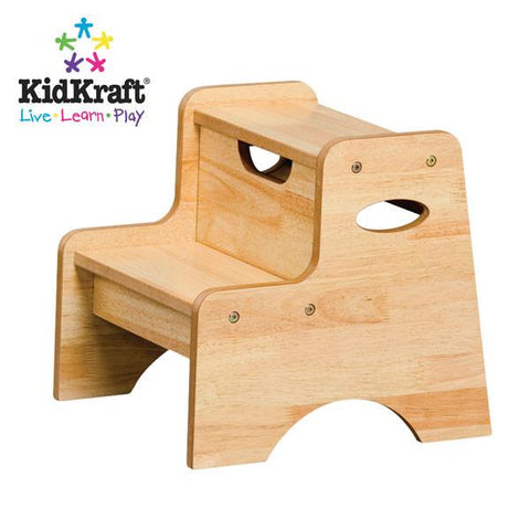 KidKraft Two Step Stool - Natural 15511 - Peazz.com