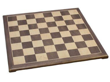 "Fame 18"" Walnut Chess Board 302B - Peazz.com"