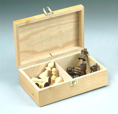 Fame 312A Wood Chessmen with Storage Box - Peazz.com