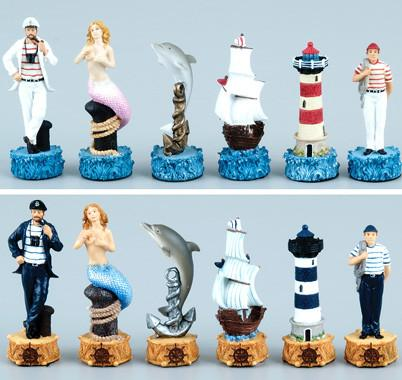 Fame 6195 Nautical Chessmen - Peazz.com