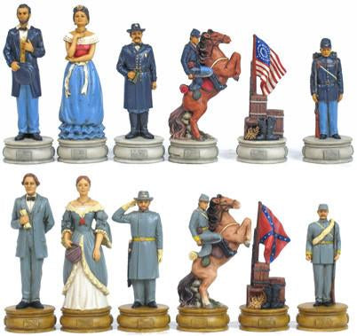 Fame 7021L Large Civil War II Chessmen - Peazz.com