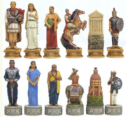 Fame 7370 Alexander and India Chess Pieces - Peazz.com