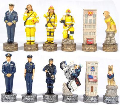 Fame 7365 Firefighter/Police Chessmen - Peazz.com