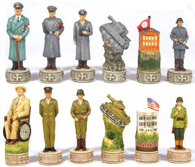 Fame 7366L Large World War II Chessmen - Peazz.com