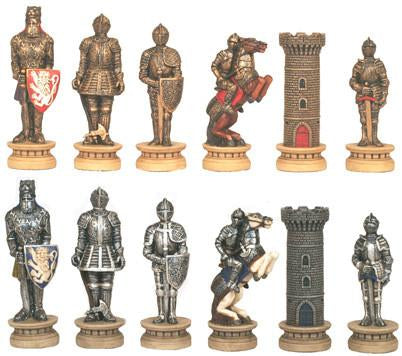 Fame 7305L Medieval Times III Large Chessmen - Peazz.com