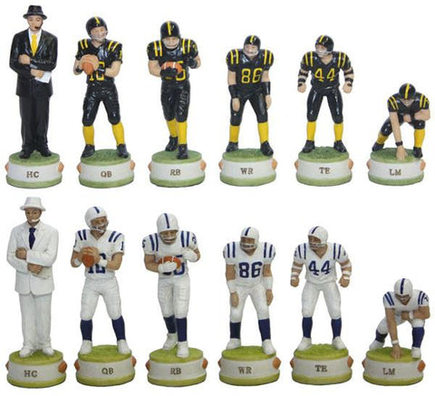 Fame 7441 America Football Chess Pieces - Peazz.com