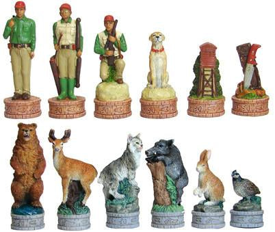 Fame 7481 American Hunter's Chessmen - Peazz.com