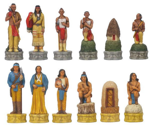 Fame 7477 Cherokee/Navajo Indian Chessmen - Peazz.com
