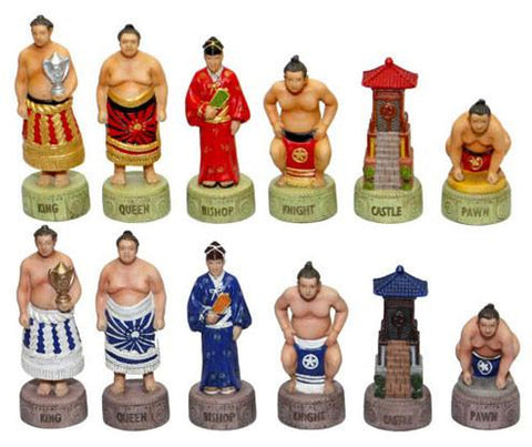 Fame 7482 Japanese Sumo Chessmen - Peazz.com