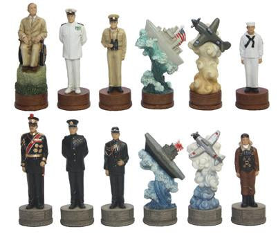 Fame 7457L Large Pearl Harbor Chessmen - Peazz.com