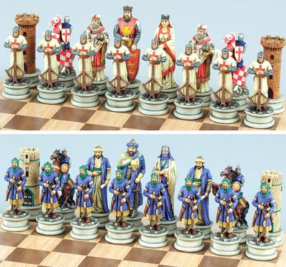 Fame 7611L Large Crusades Chess Set Pieces III - Peazz.com