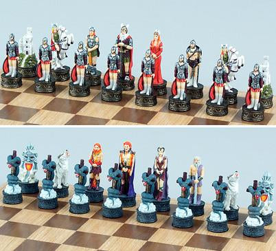 Fame 7697 Norse Justice vs Evil Chess Set Pieces - Peazz.com