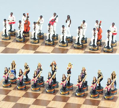 Fame 7649 Rock and Roll Chess Pieces - Peazz.com