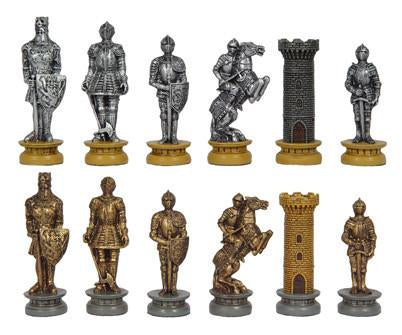 Fame 8553P Pewter Medieval Warriors Chessmen - Peazz.com