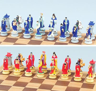 Fame 9281C Oriental Color Chess Set Pieces - Peazz.com
