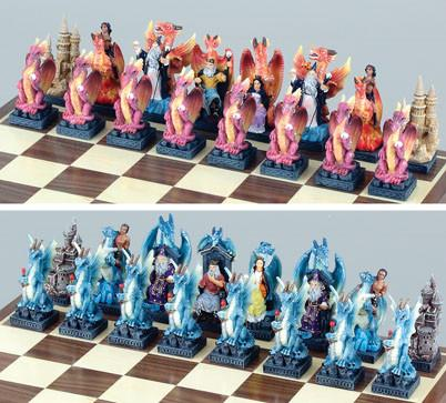 Fame CL167 Large Dragon Chess Set Pieces - Peazz.com