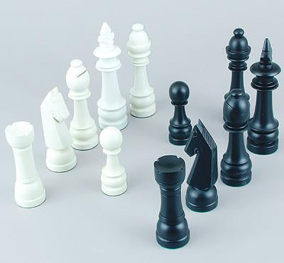 Fame Jumbo Wood Chessmen 450 - Peazz.com