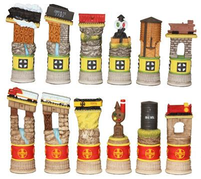 Santa Fe Railway Train Chess Set 7507 - Peazz.com
