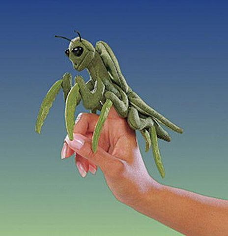 Folkmanis Mini Praying Mantis Finger Puppet - 2610 - Peazz.com