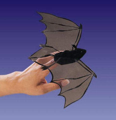 Folkmanis Mini Bat Finger Puppet - 2612 - Peazz.com