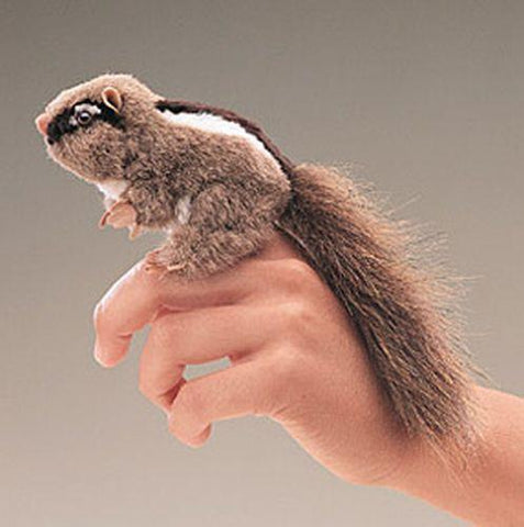 Folkmanis Mini Chipmunk Finger Puppet - 2637 - Peazz.com