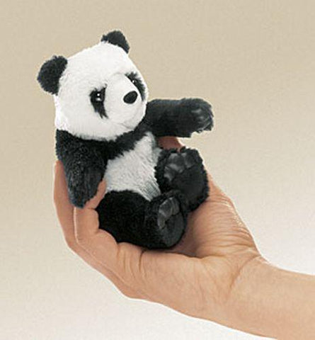 Folkmanis Mini Panda Finger Puppet - 2694 - Peazz.com