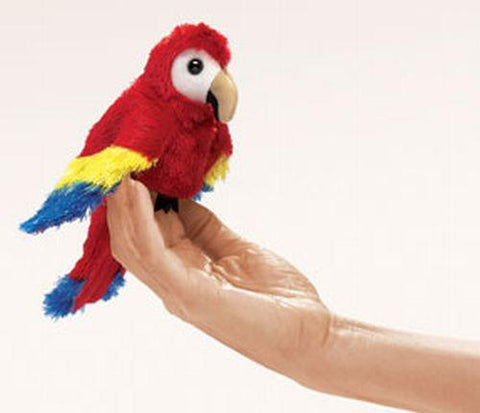 Folkmanis Mini Macaw, Scarlet  Finger Puppet - 2723 - Peazz.com