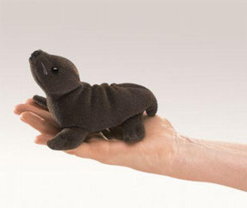 Folkmanis Mini Sea Lion Finger Puppet - 2734 - Peazz.com