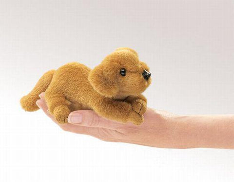 Folkmanis Mini Golden Retriever Finger Puppet - 2736 - Peazz.com