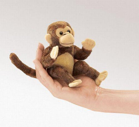 Folkmanis Mini Monkey Finger Puppet - 2738 - Peazz.com
