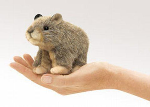 Folkmanis Mini Pika Finger Puppet - 2741 - Peazz.com
