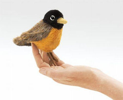 Folkmanis Mini Robin Finger Puppet - 2742 - Peazz.com