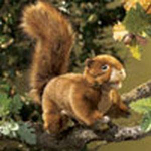 Folkmanis Squirrel, Red Hand Puppet - 2880 - Peazz.com