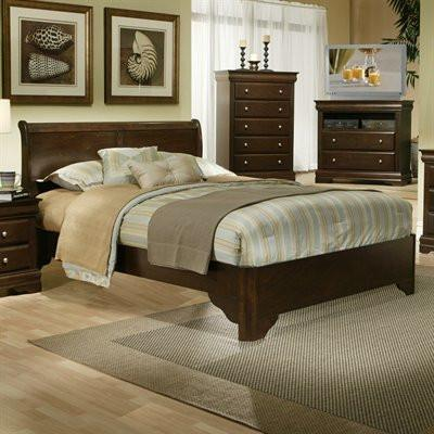 Alpine 3200F Full Sleigh Bed - Peazz.com