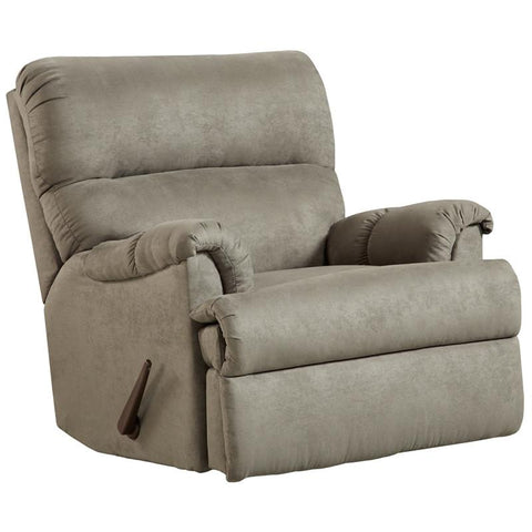Flash Furniture 2155SENSATIONSGREY-GG Exceptional Designs Sensations Grey Microfiber Rocker Recliner - Peazz.com
