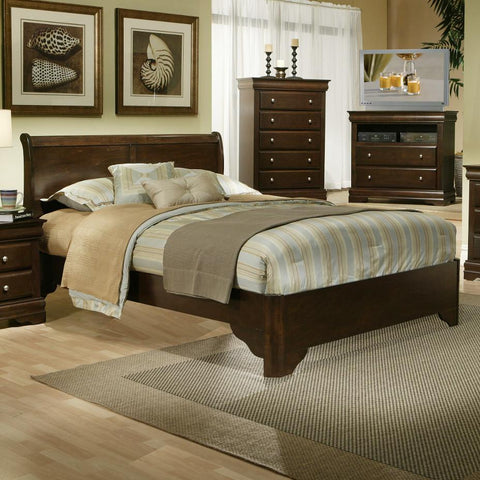 Alpine 3200Q Queen Sleigh Bed - Peazz.com